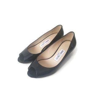 Jimmy Choo heels wedges patent leather sz36.5